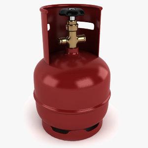 gas cylinder 3d 3ds