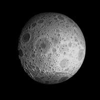 moon realistic 3d obj