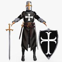 templar knight helmet 3d max