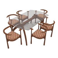 3d dining table chairs-9