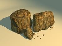 3d obj stone