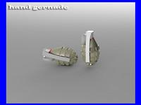 3d hand bomb model