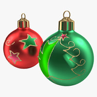 christmas ornament balls 1 3d c4d