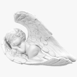 angel statuette 1 3d max