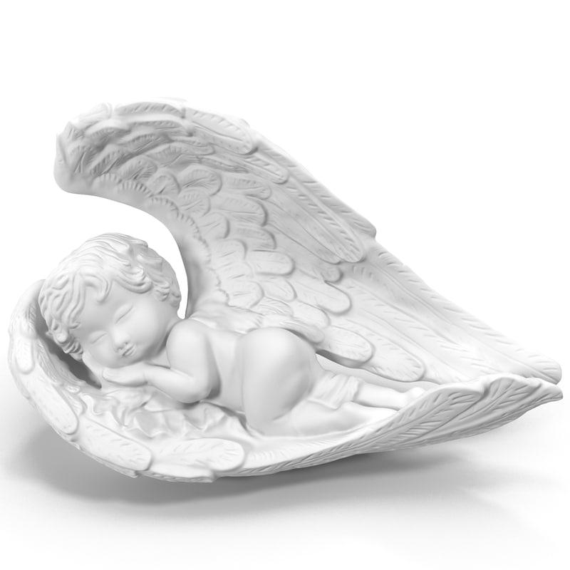 angel statuette 1 3d max
