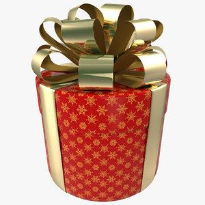 c4d cylinder gift box 1