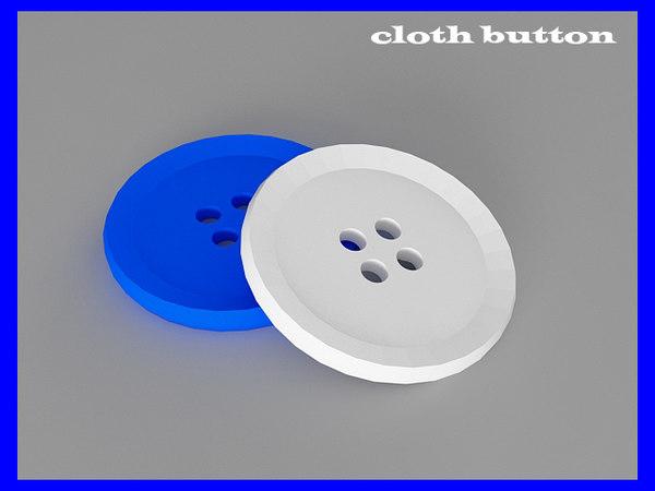 3d cloth button model