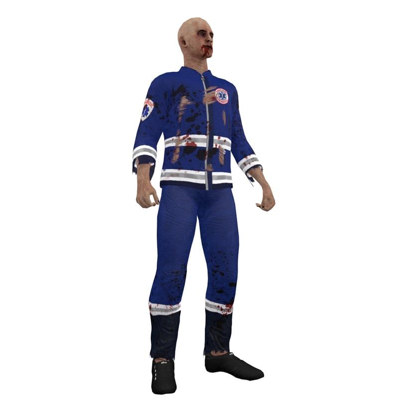 rigged zombie paramedic max