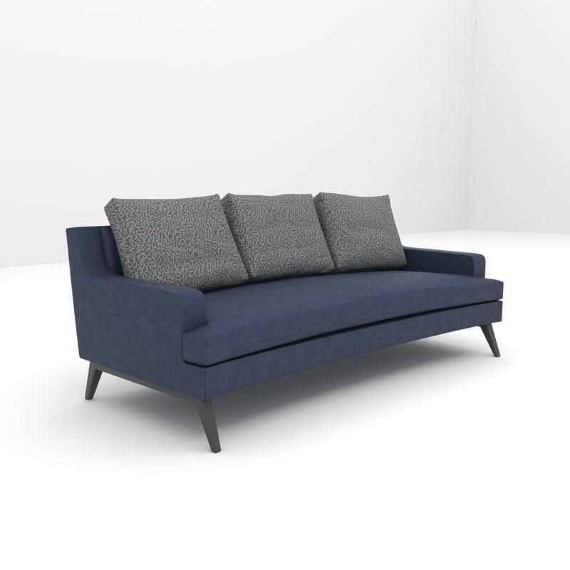 3d italian fabric sofa model
