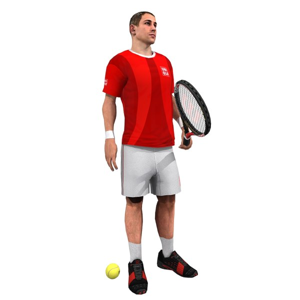 tennis player rigged 3d max