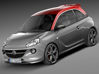 2015 opel adam 3d 3ds