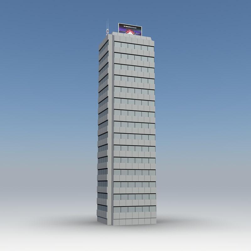 3d skyscraper 19 day night
