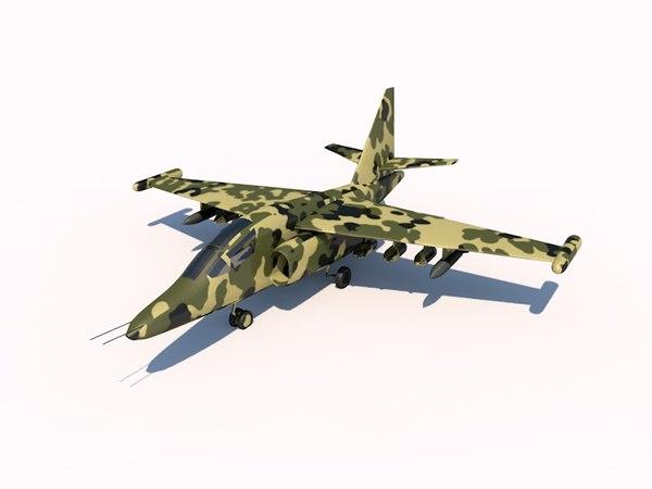 sukhoi su-25 frogfoot 3d c4d