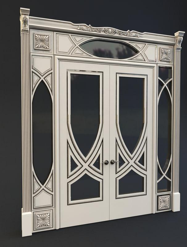 classic door 3d max