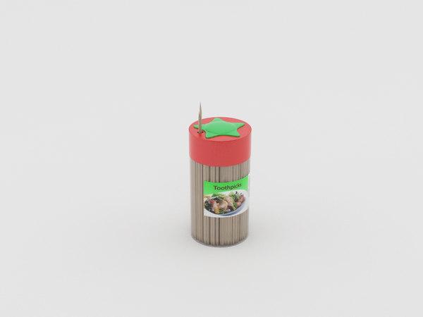 3d toothpicks model