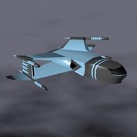3d spaceship weapons model
