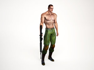 3d soldier shooting games model