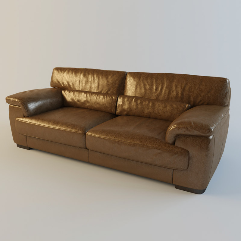 brown leather sofa montana 3d max