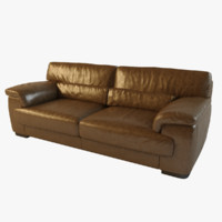 brown leather sofa montana 3d max