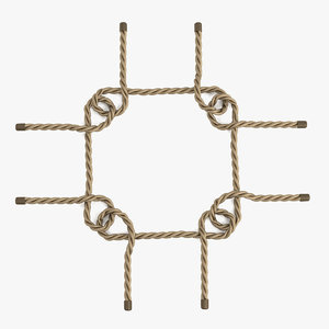 rope knot rig 3d model