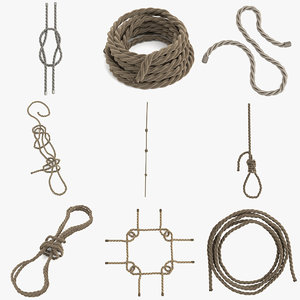 rope knots rigs 3d model