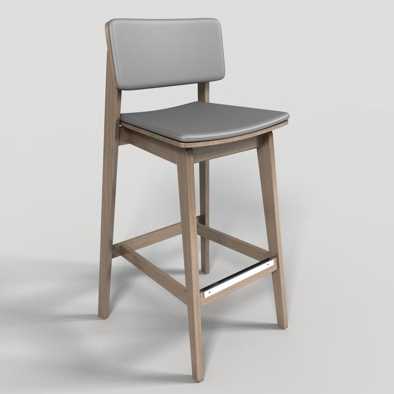 3d model bar stool