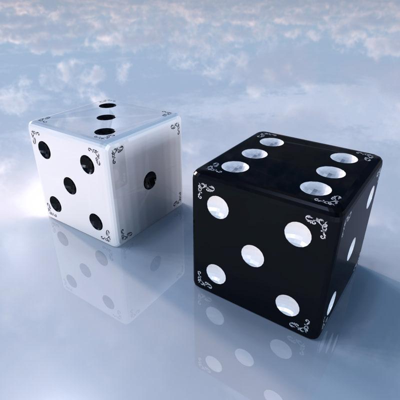 3d pair dices