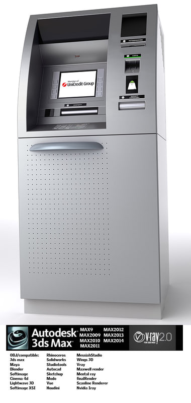 3d model cash machine