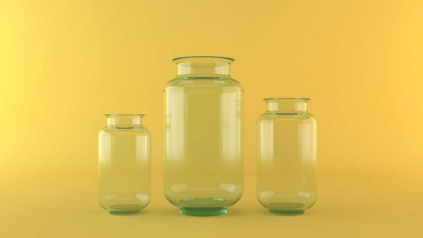 glass vases 3d model