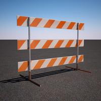 construction barricade 3d max