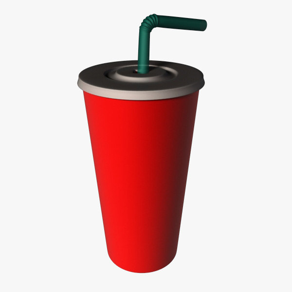 fast food cup 3d model