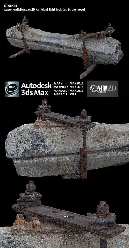 railway stalker 3d model