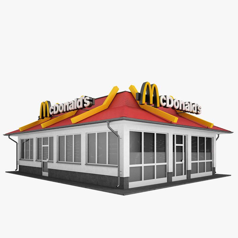 restaurant mcdonalds mc 3d max