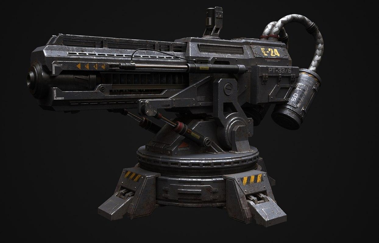 3dsmax gun railgun