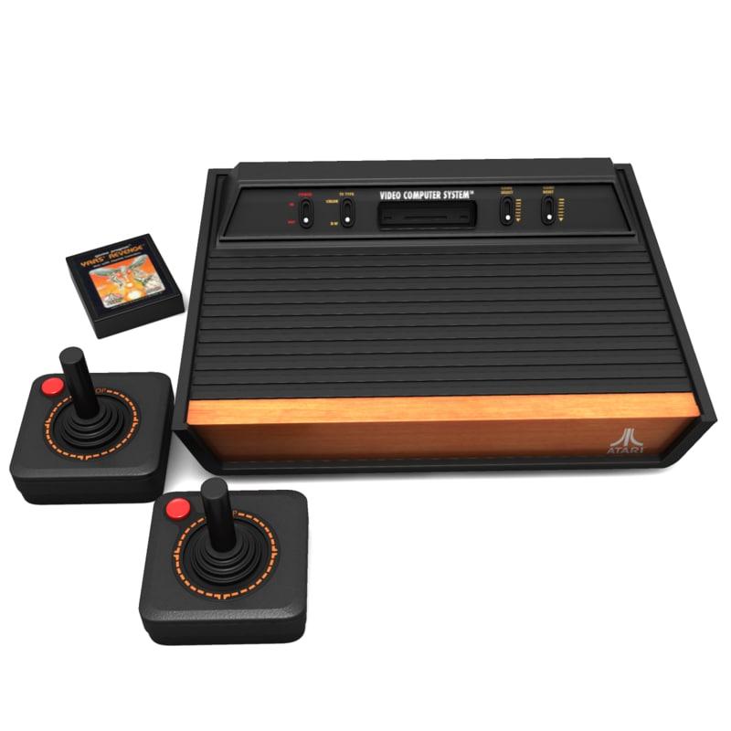 3d atari 2600 - Original atari game console ...