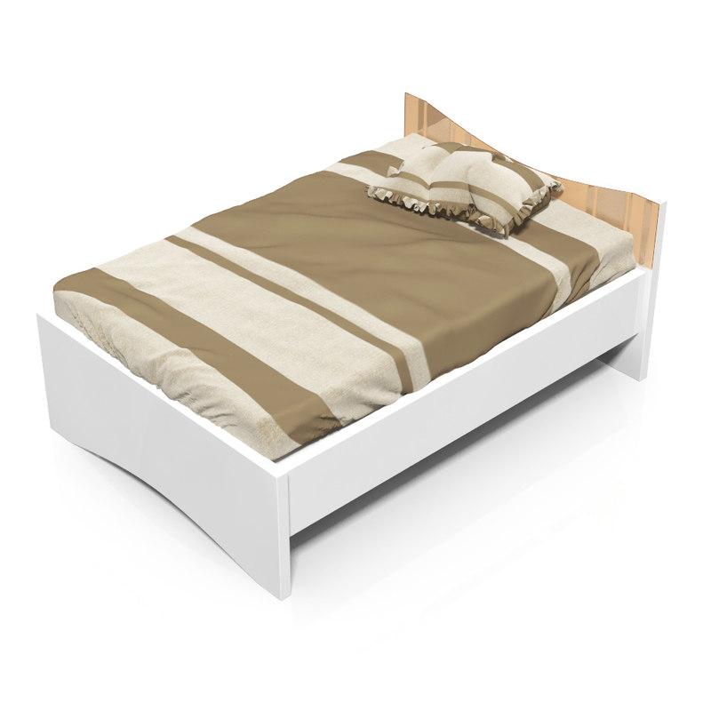 3d model tatoo bed 140x200