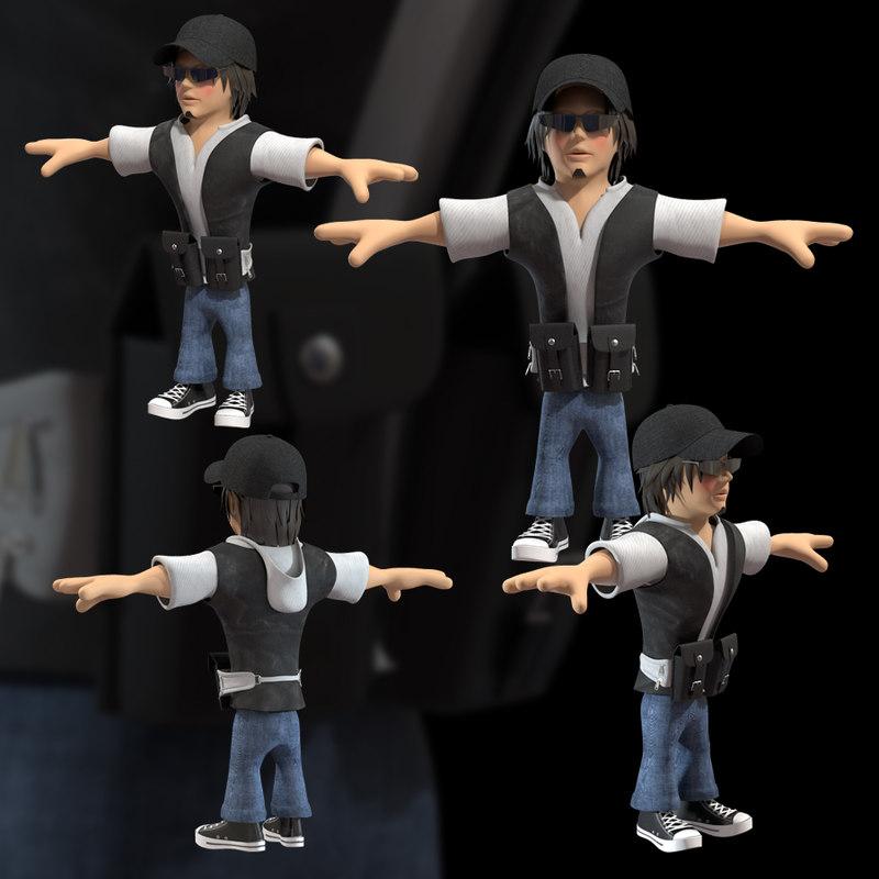 3d man cartoon character