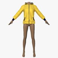 3d yellow jacket model
