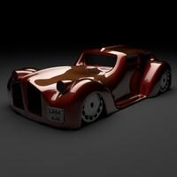 3d classic car