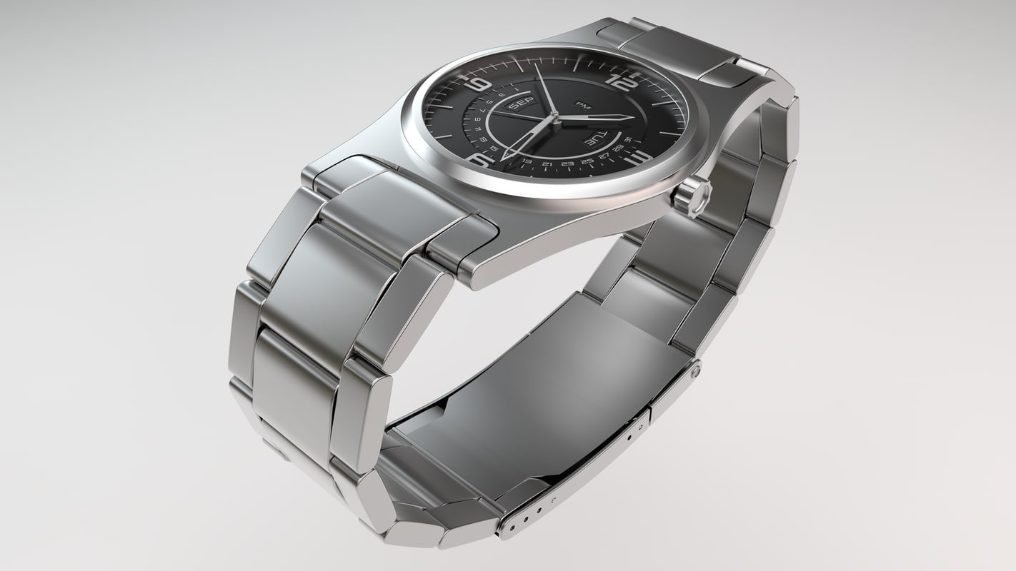 metal watch 3d model