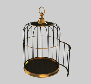 simple birdcage 3d model