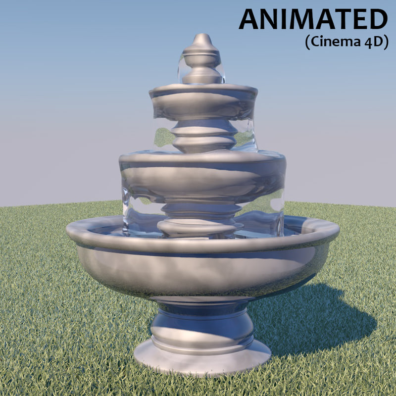 water fountain 3d c4d