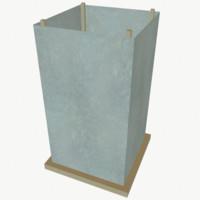 3d model paper water lantern