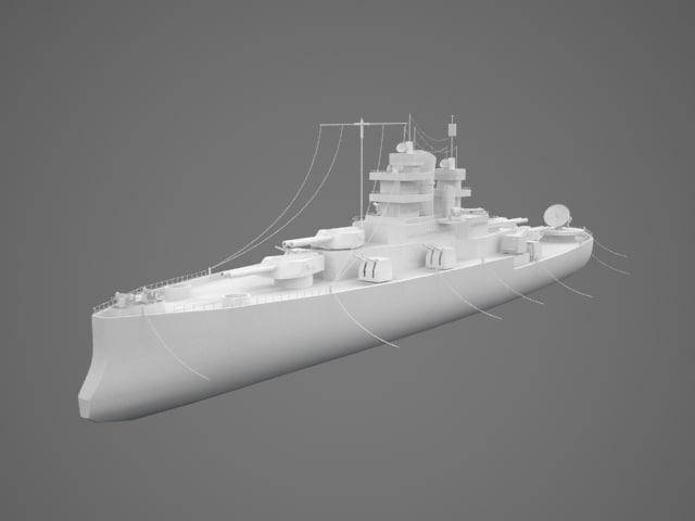 3d nevada ship model