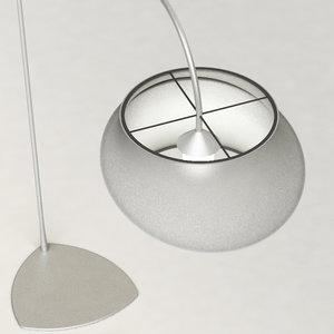 3d calligaris cygnus floor lamp