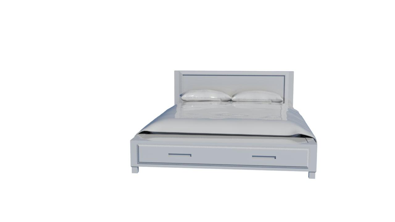 3d bed blanket model