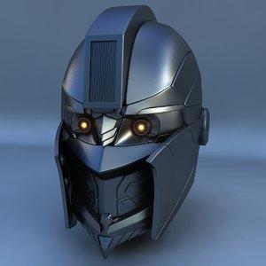 3d model robot head d