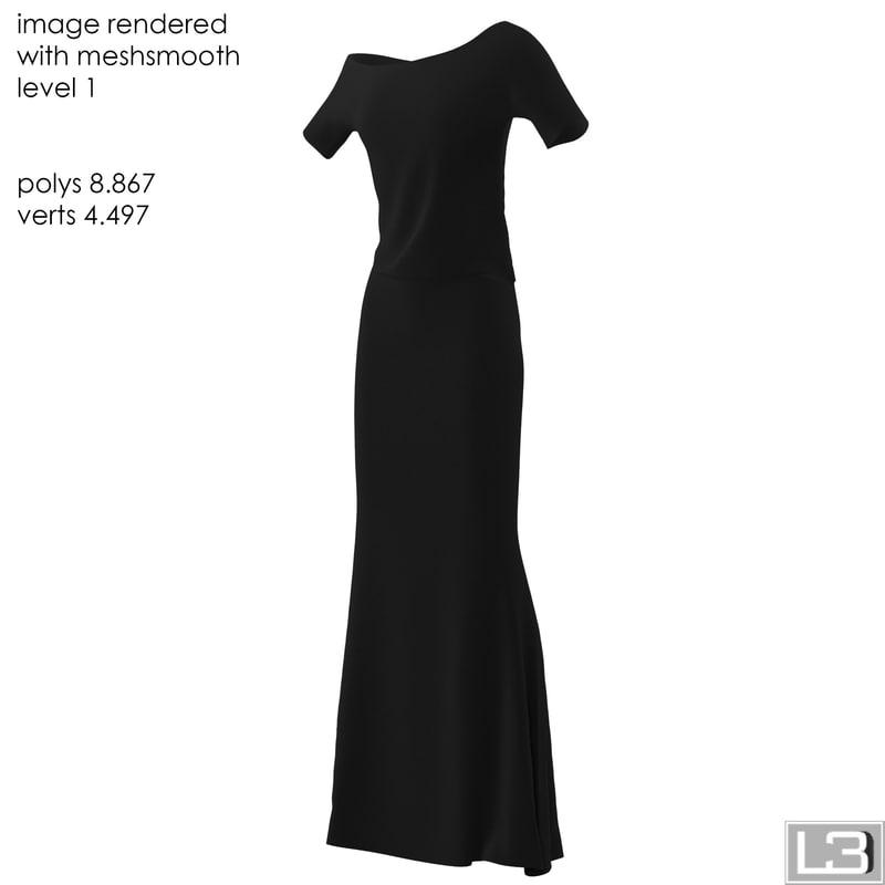 3d max woman clothes