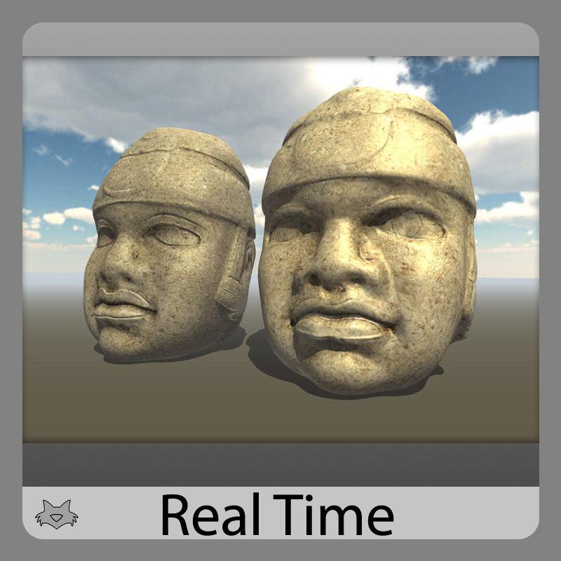 heads olmec 3d max