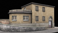 3d model old villa building